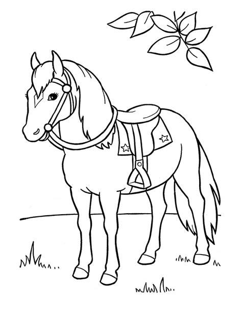printable horse coloring pages  kids horse