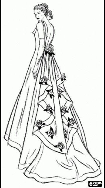 Descubre miles de vectores gratis y libres de derechos en freepik. Diseño de modas | Vestidos de novia de colores, Colores ...