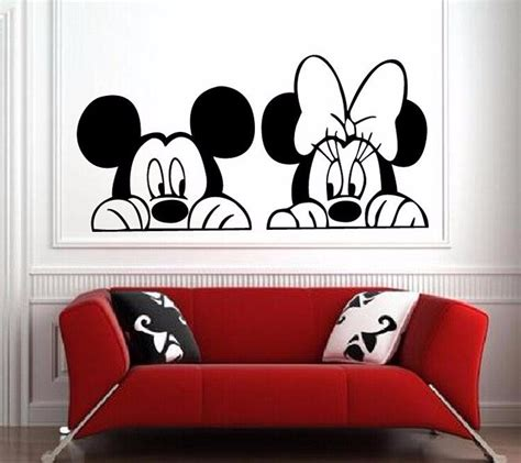 decoration mickey chambre mickey and minnie mouse wall vinyl