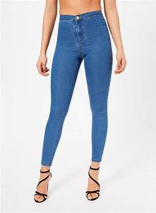 STEFFI Pretty Blue Super High Waist Jean - Miss Selfridge