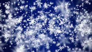 falling snow on blue background: Royalty-free video and ...