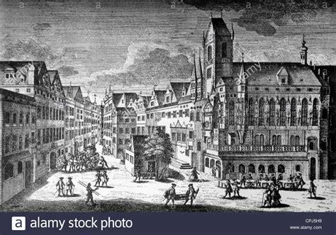 City Hall Of Prague 1700 Stock Photo Royalty Free Image
