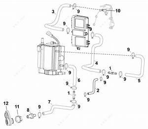 Evinrude Ab Models 75 - E75dslaba  Cooling Hoses