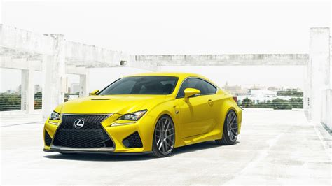 Yellow Lexus Rcf Wallpaper