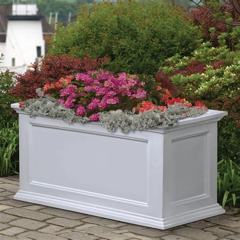 mayne vinyl patio planter boxes window box planters