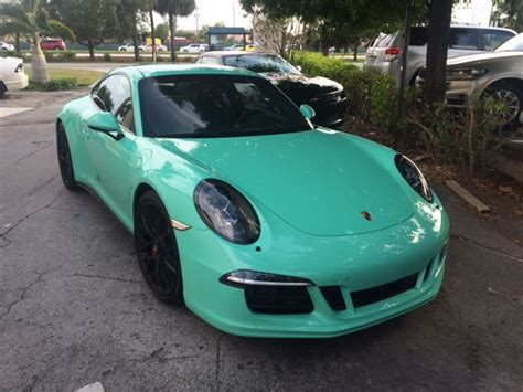 porsche mint green 2016 porsche 911 carrera mt gts pts mint green