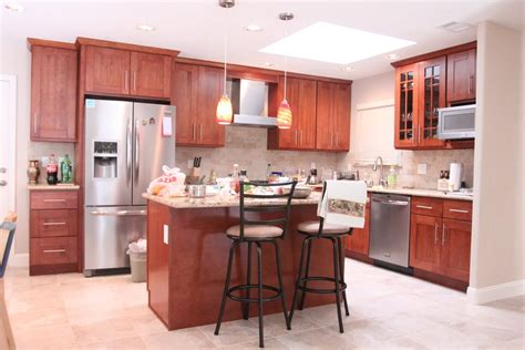 Cherry Cabinets by Hong Bo Hardware Supply Cherry Shaker Kitchen Cabinets