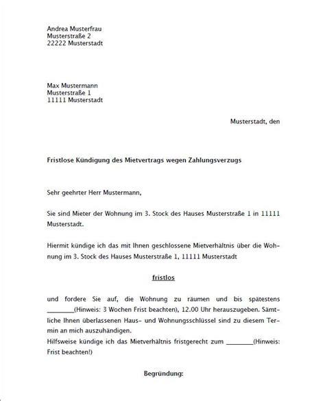 Vermieter Mietvertrag Kündigen by K 252 Ndigung Mietvertrag Vorlage Kostenlos Mieter K 252 Ndigung