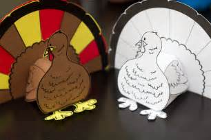 thanksgiving 3d turkey cutout downloadable project for