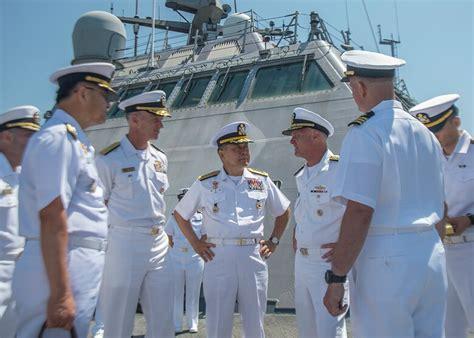 south koreas chief  naval operations visits san diego