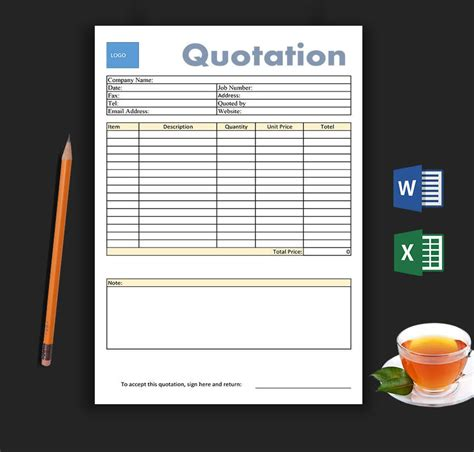 blank estimate templates corporate business