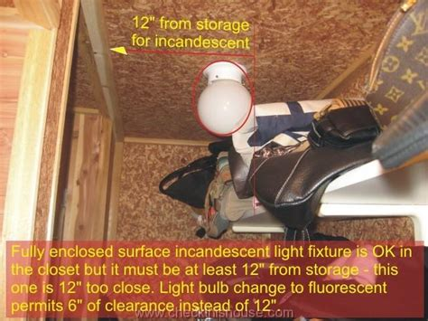 closet closet light fixture hazards