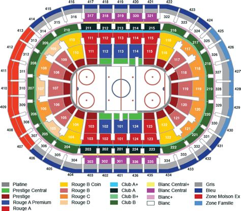 siege stade olympique bell centre montreal qc seating chart view