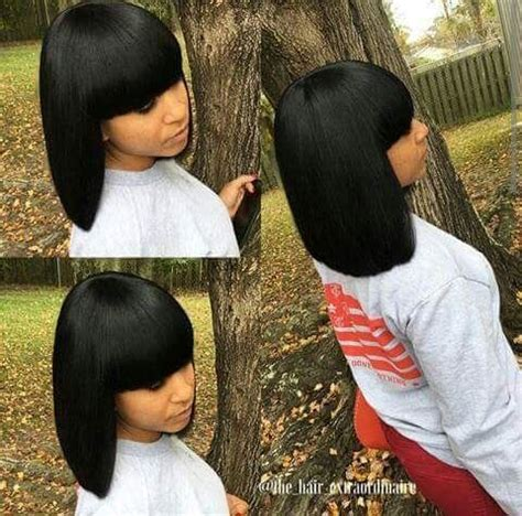Sew In Weave Bob Hairstyles With Bangs by Yall Girlies Wanna See More Follow Me Stylesbybriana