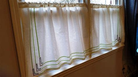 simple cotton cafe curtains kitchen the creative room