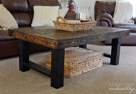 how to build a coffee table remodelaholic diy simple wood slab coffee table
