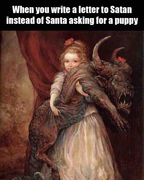 Funny Satan Memes - satan instead of santa meme