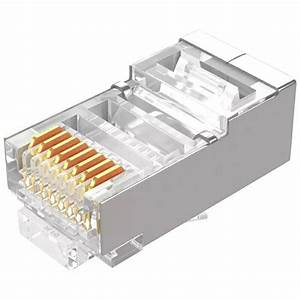 Samzhe Cat6 Rj45 Modular Plug 8p8c Connector For Ethernet