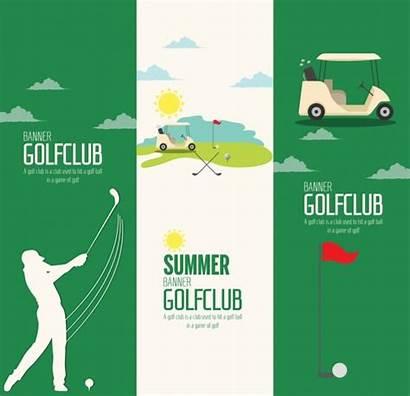 Golf Vertical Vector Club Course Advertisement Illustration