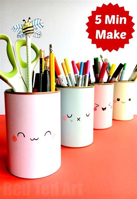 diy pencil holder for desk kawaii pencil holder diy idea ted s