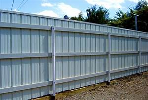 Galvanized, Steel, Solid, Fence, Panels, U2022, Fences, Design