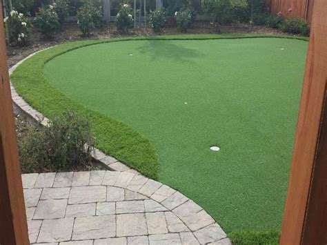 artificial putting green cost synthetic grass cost cedarburg wisconsin best indoor putting green backyard designs