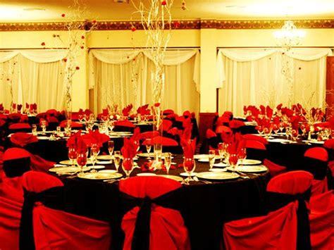 decoracion de boda en negro  rojo decoracion