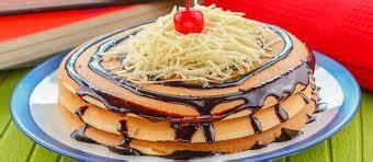 Penjelasan lengkap seputar resep pancake enak, lezat, empuk, lembut, mudah dibuat, praktis, sederhana, simple aneka rasa dan topping. Resep Pancake Cokelat Keju Enak Nikmat - Resep Nasional
