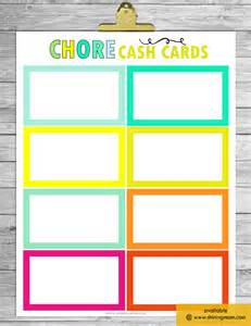 Free Printable Blank Chore Chart Templates