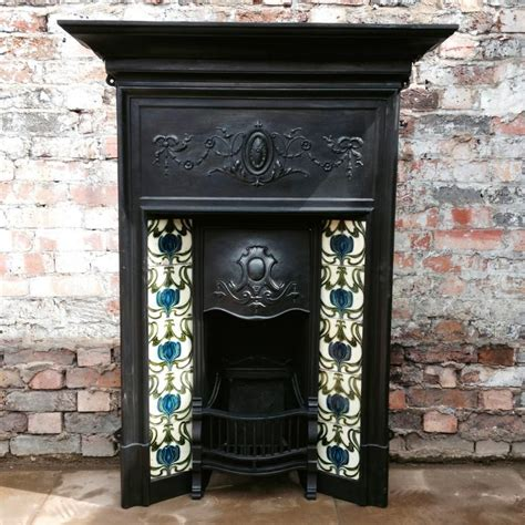 antique fireplace tiles for sale edwardian cast iron fireplace for sale on salvoweb from