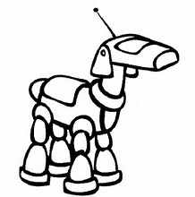 HD Wallpapers Robot Dog Coloring Pages