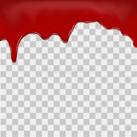 dripping blood  transparent background vector stock