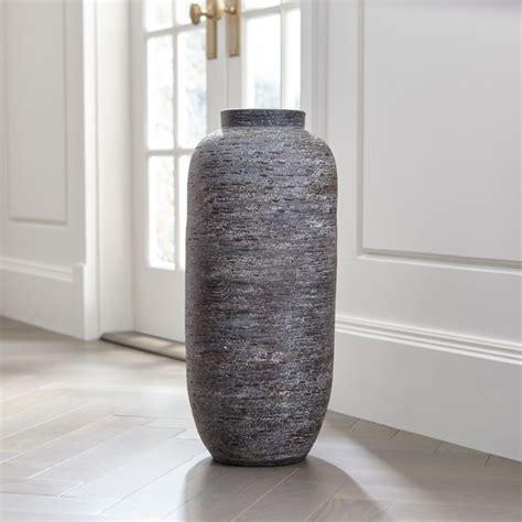 Gray Floor Vase timber grey floor vase reviews crate and barrel