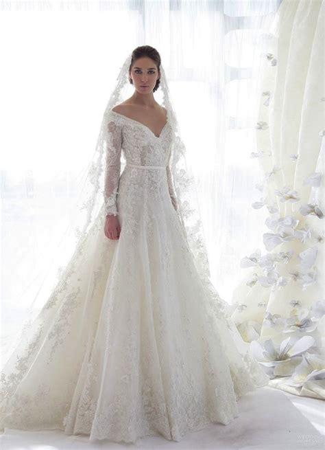long sleeve lace wedding dress dressed  girl