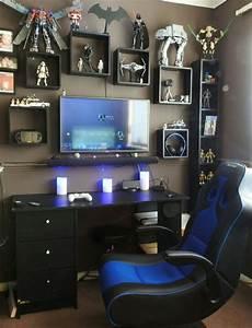 Gaming Zimmer Ideen : gaming desks gaming pinterest coole zimmer haus und kinderzimmer ~ Markanthonyermac.com Haus und Dekorationen