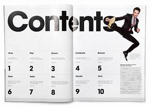 Layout, table of contents, Triboro for GQ Style
