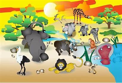 Animals African Illustration Vector Format Urartstudio