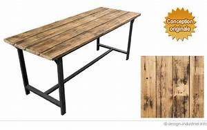 Table Salle A Manger Style Industriel : table de style industriel ~ Teatrodelosmanantiales.com Idées de Décoration