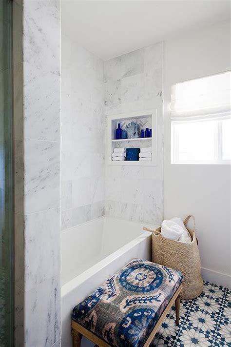 sacks eastern promise tiles transitional bathroom