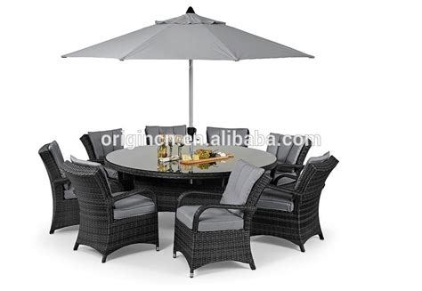 8 seater home garden rattan dining table and