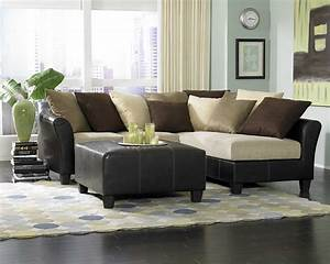 Elegant Box Coffee Table Sectional Sofa Brown Decorative