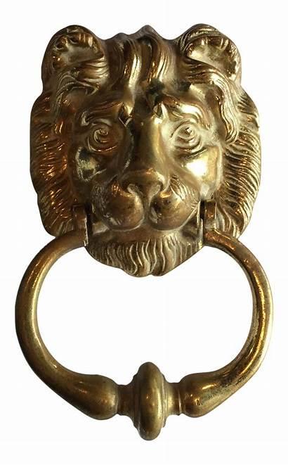 Knocker Door Lion Brass Antique Chairish