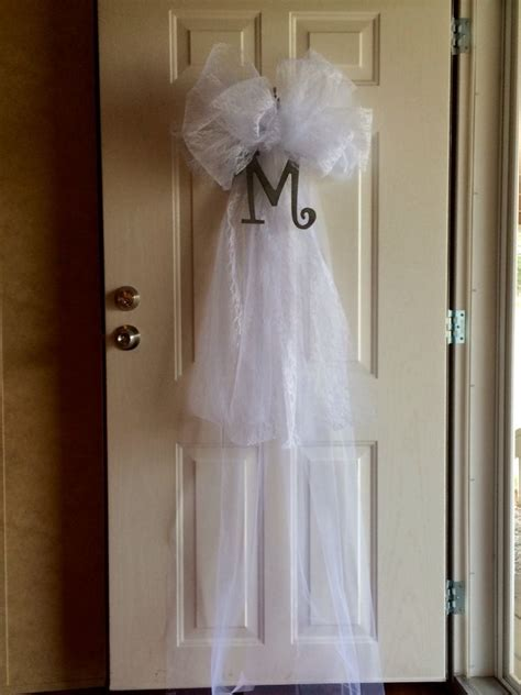 Wedding Veil Door Decoration For Brooks Shower Projects