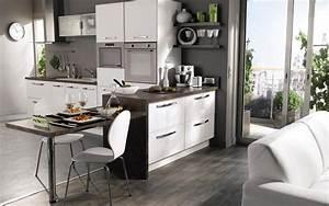 image gallery modele de cuisine americaine With cuisine ouverte petit espace
