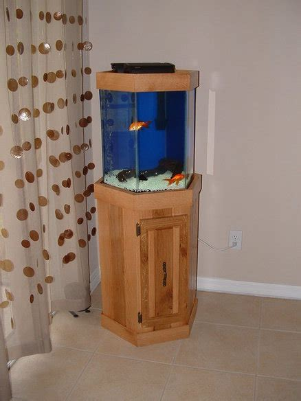 hexagon aquarium stand  jevarn  lumberjockscom