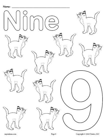 printable animal number coloring pages numbers
