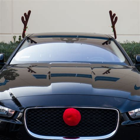 reindeer antlers nose car vehicle costume rudolph