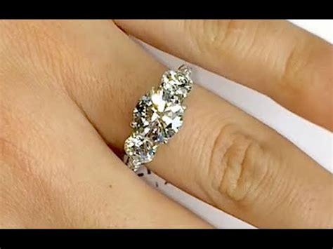 diamond 3 stone engagement ring youtube