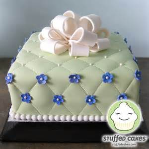 wedding shower cakes stuffed cakes quilted gift box bridal shower cake