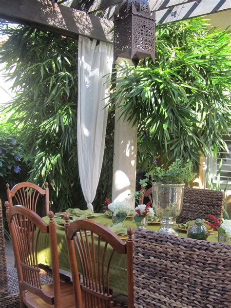 how to hang outdoor curtains patio tropical with buddha